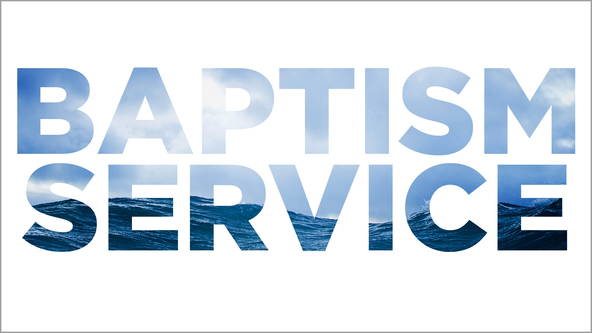 Baptism service web