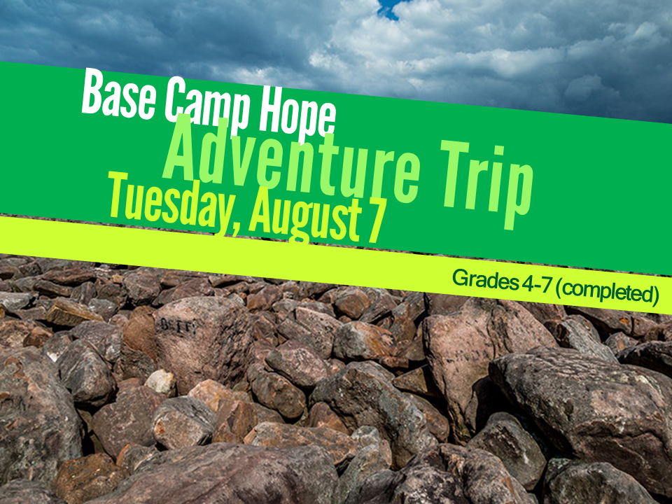 Base camp hope august 2017 middle school 2