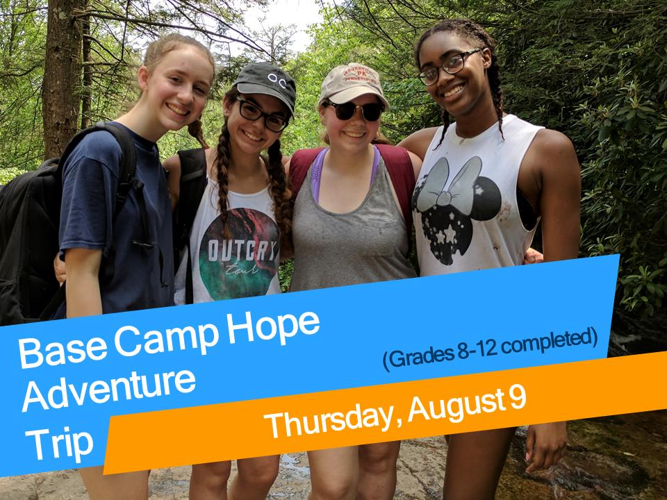 Base camp hope august 2018 high school