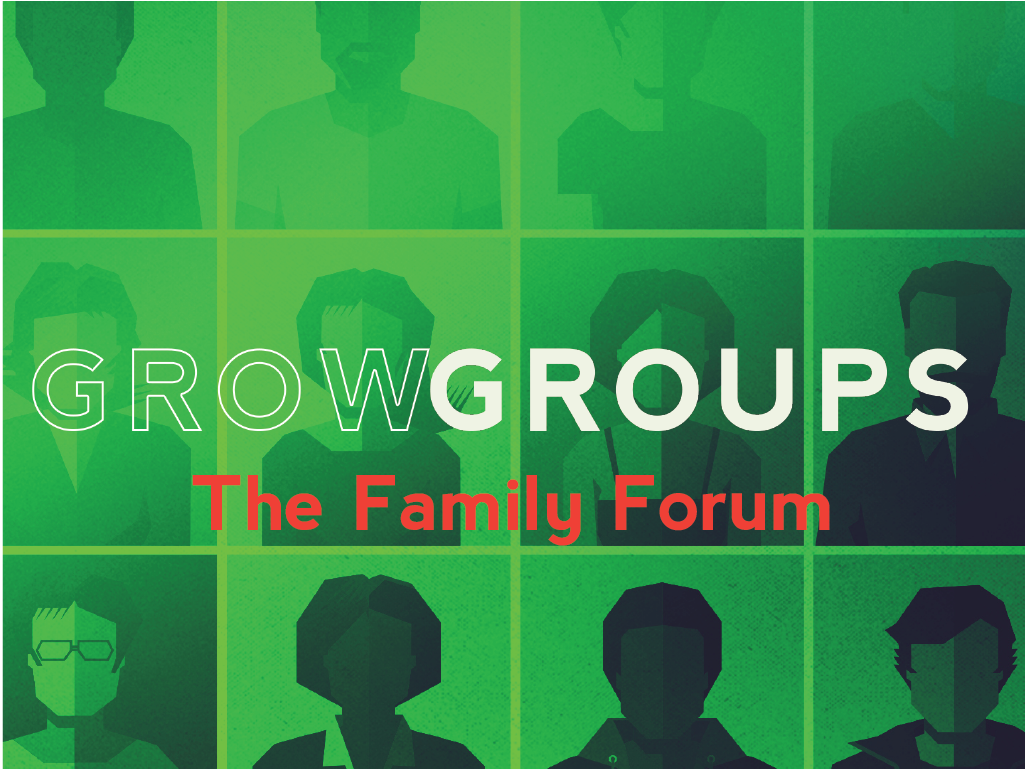 Grow groups.family forum.pco registration