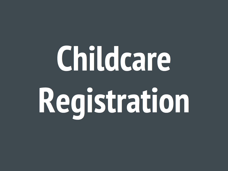 Childcare registration