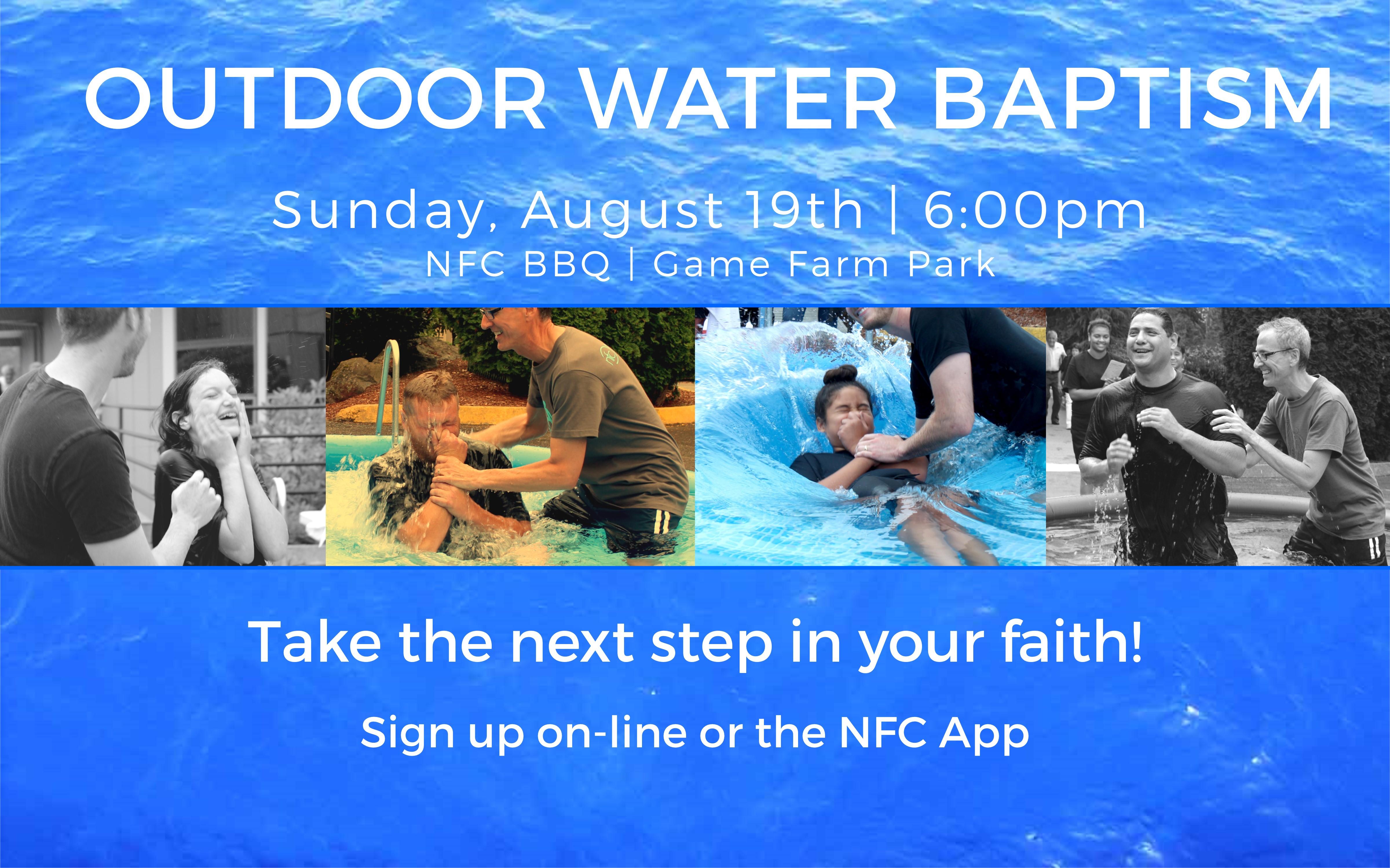 Outdoor baptism slide