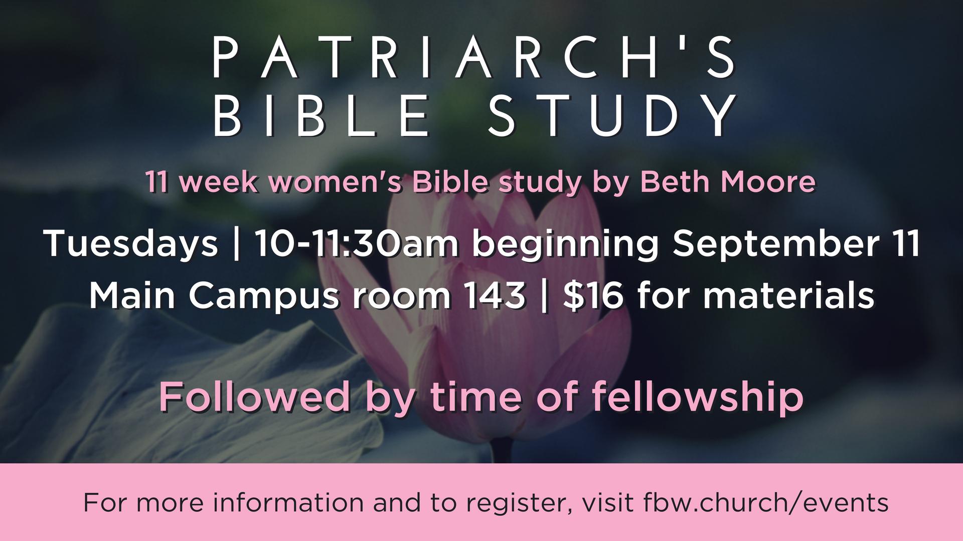 Patriarch s bible study  2