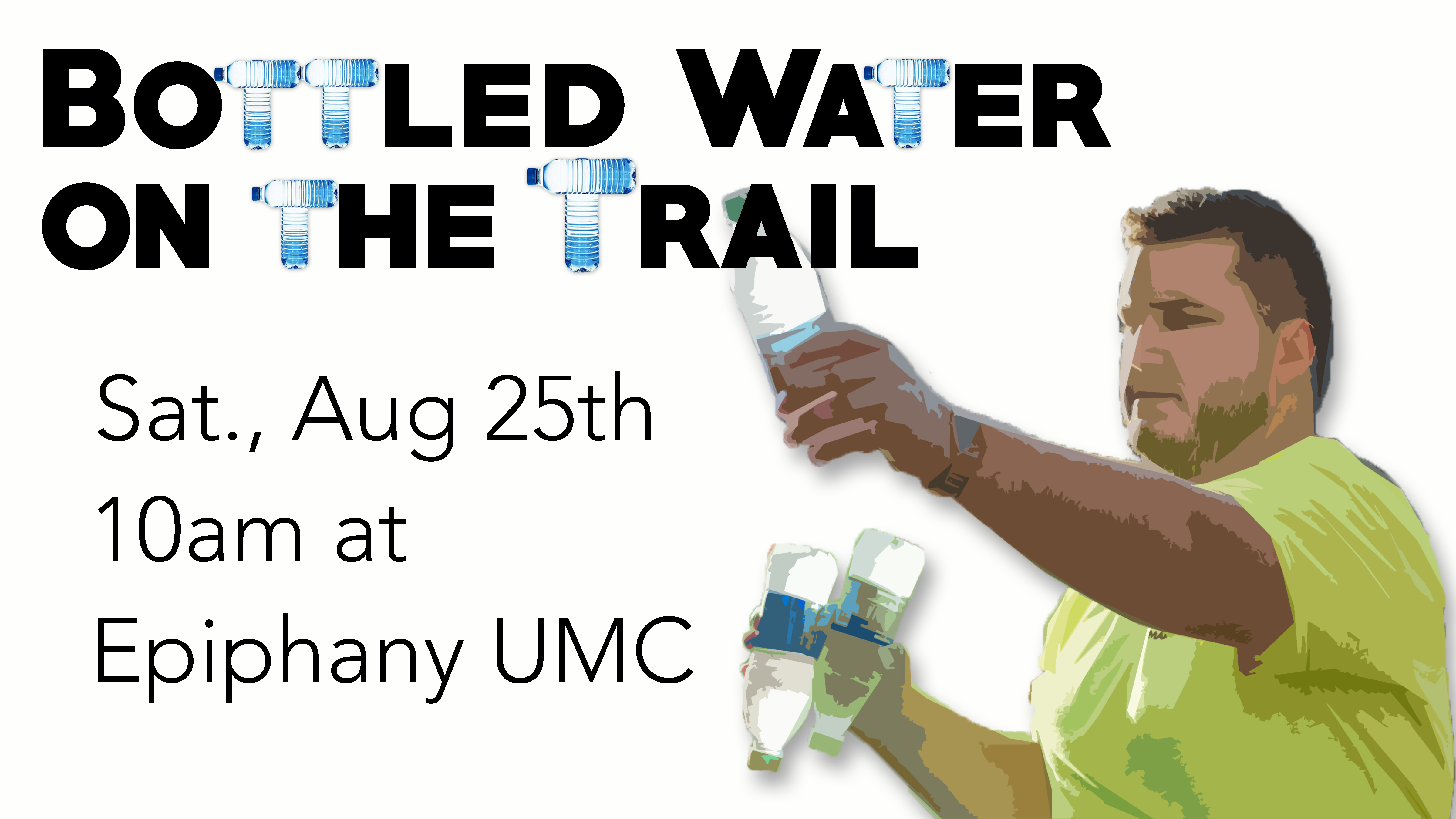 Bottled water on the trail