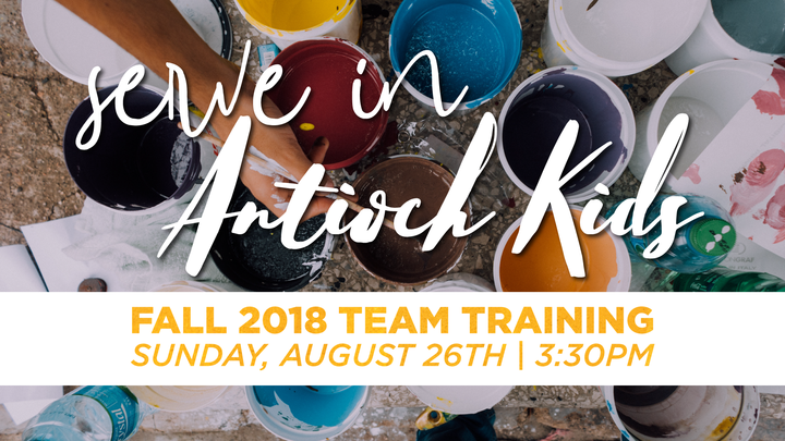 Antioch Kids: Fall Team Training logo image
