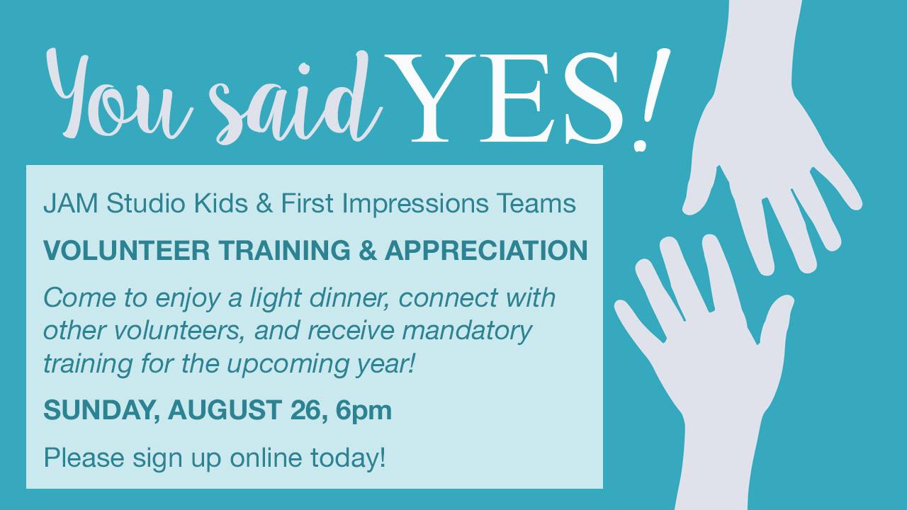 Volunteer training   appreciation