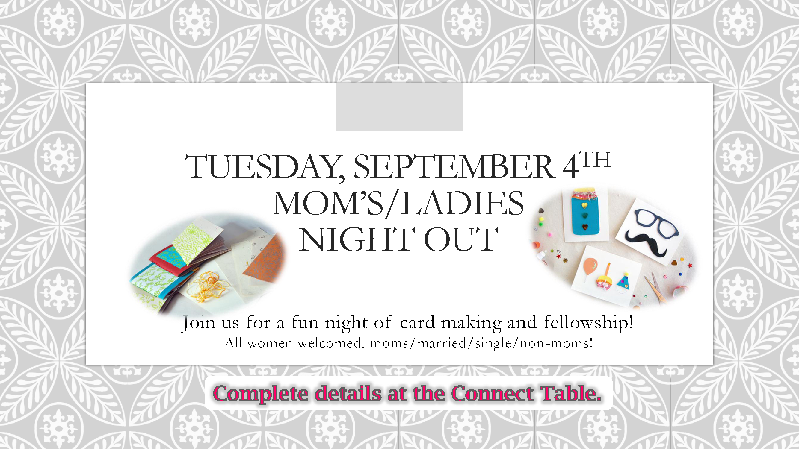 Moms   ladies night out sept slide