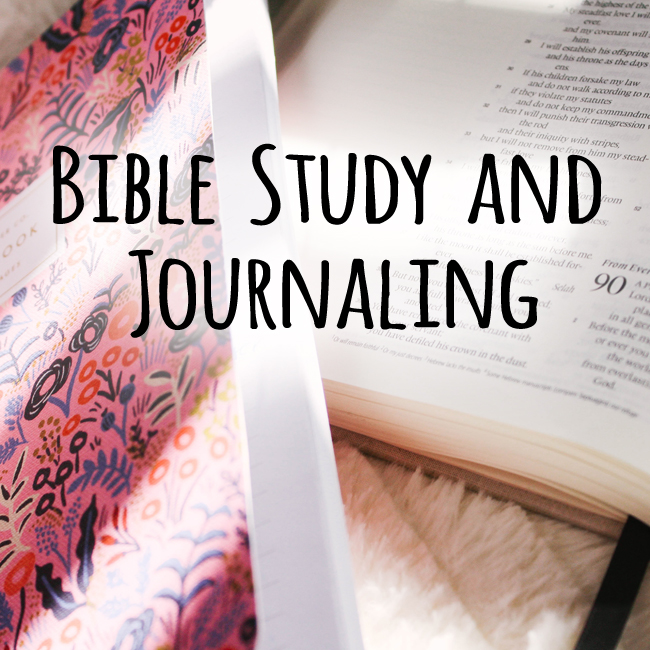 Class fall bible and journaling