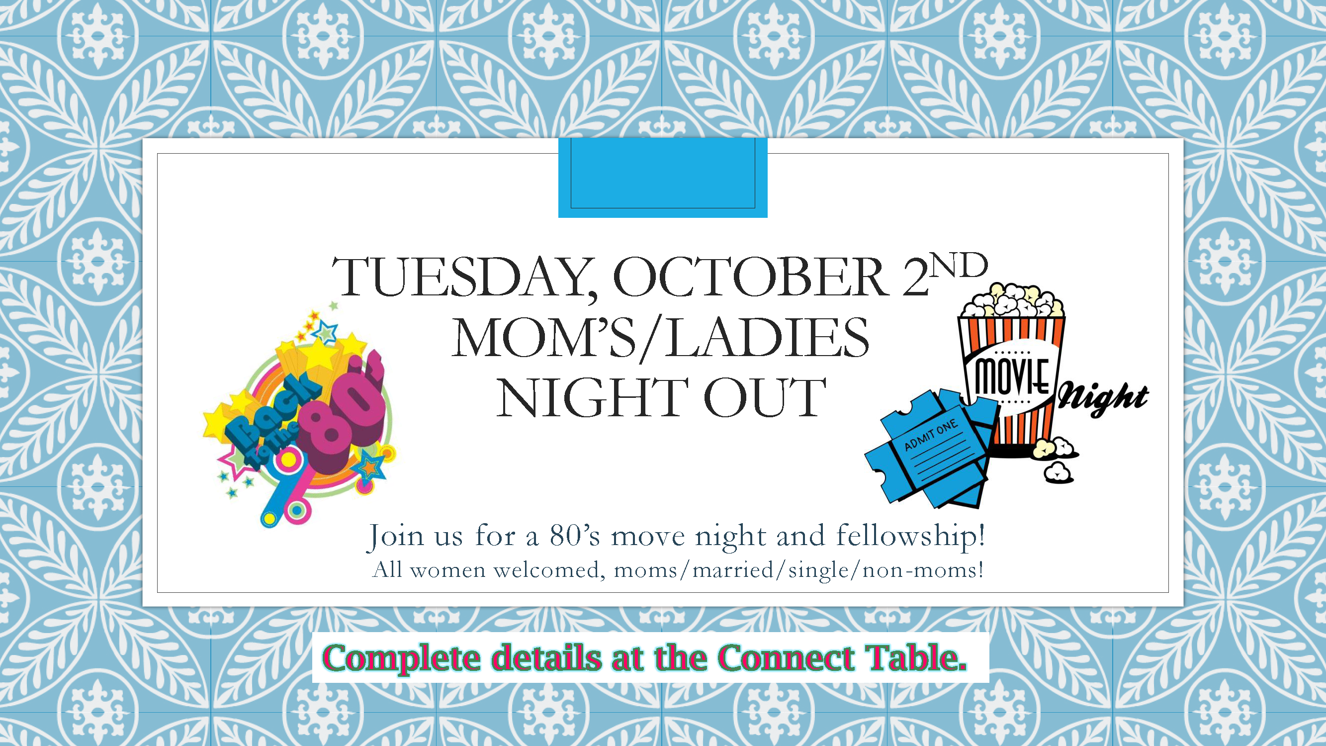 Moms   ladies night out oct slide