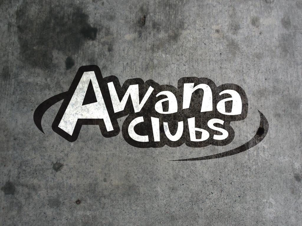 Awana logo concrete