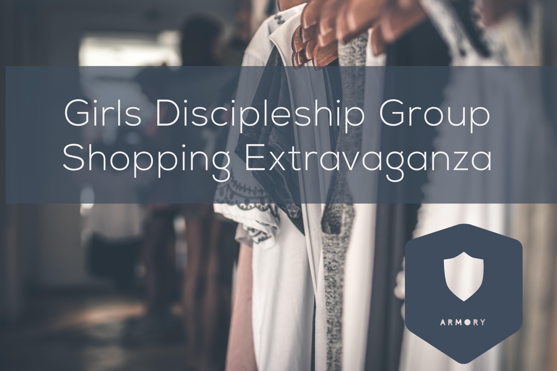 Girls discipleship group shopping