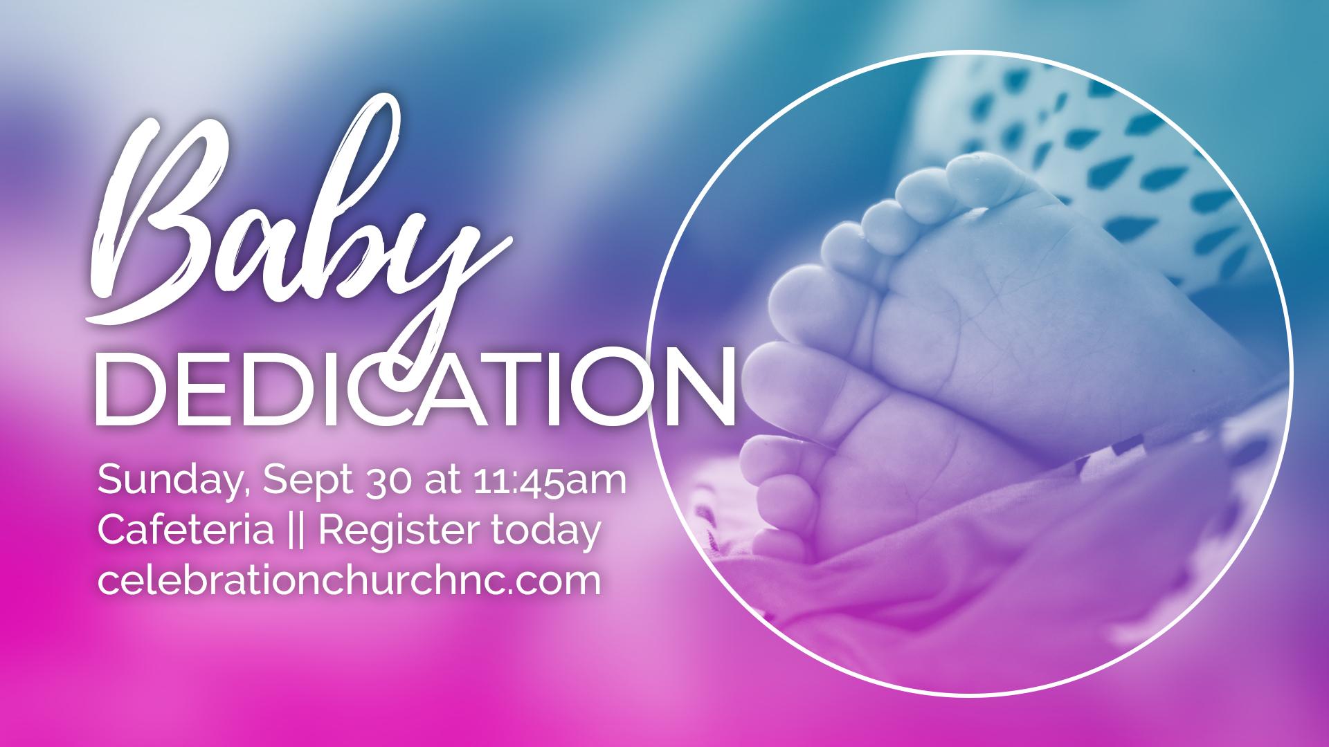 Baby Dedication Announcement Slide 1920x1080 1