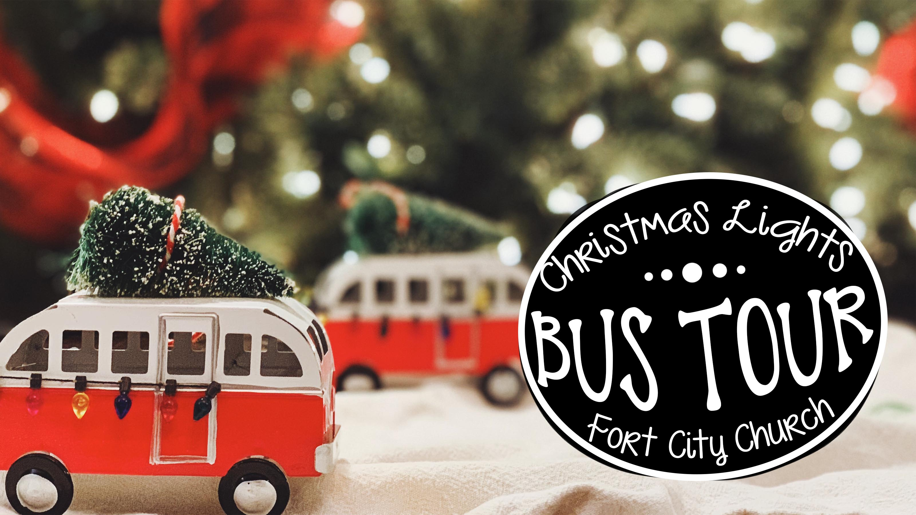 Christmas lights bus tour website
