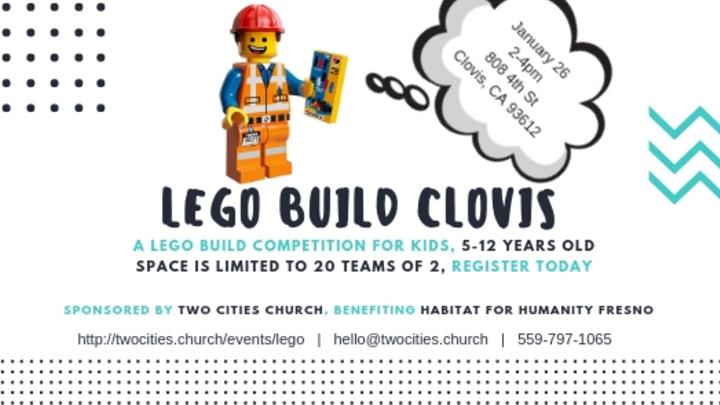 Lego Build Clovis 2019 logo image