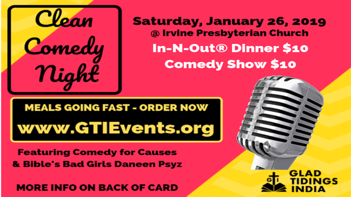 Clean Comedy Night in Orange County logo image