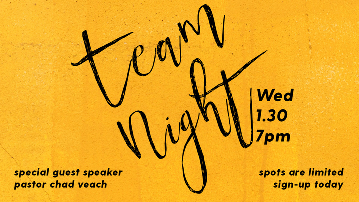 Team Night with Pastor Chad Veach logo image