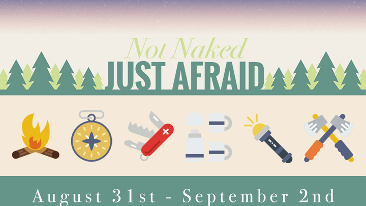 Not Naked Just Afraid Campout logo image