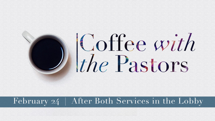Medium coffee with the pastors   feb