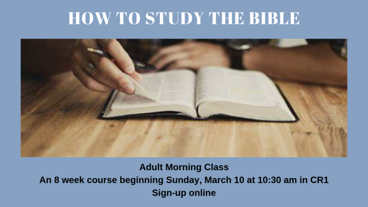 ADULT CLASS | How to Study the Bible logo image