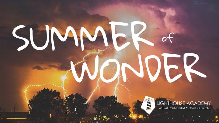 """Summer of Wonder"" School-Age Camp logo image"