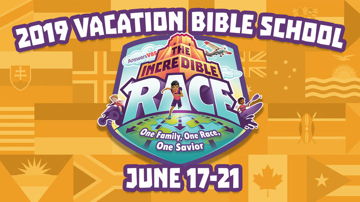The Incredible Race VBS logo image
