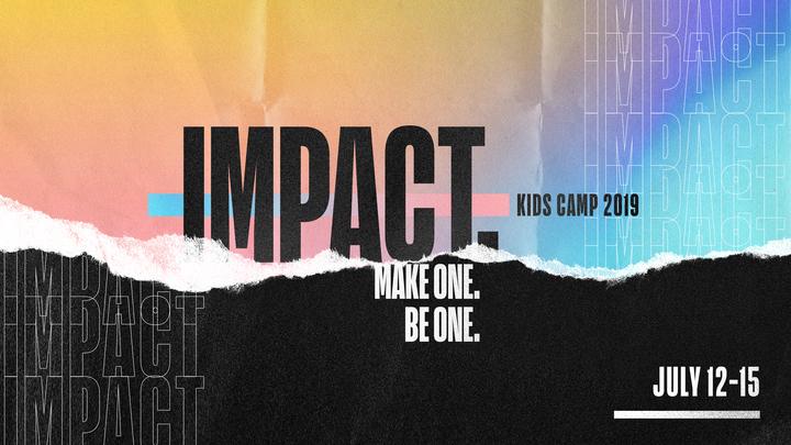"""Kids Camp 2019 """"IMPACT"""" logo image"""