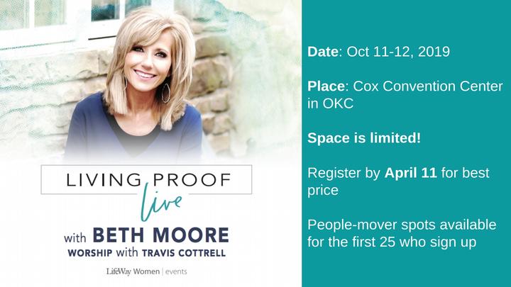 Beth Moore Living Proof Live - Oklahoma City logo image
