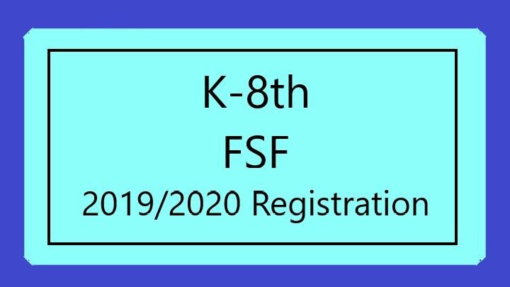 2019-2020 FSF Registration (K-8th) logo image