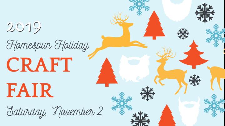 15th Annual Homespun Holiday Arts & Craft Fair Vendor Application logo image