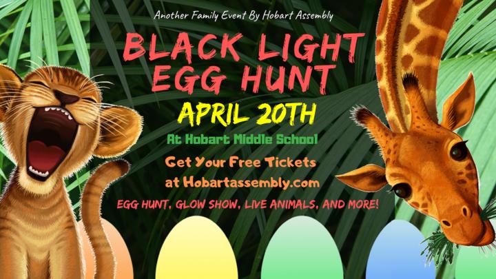Black Light Egg Hunt Tickets (Event at Hobart Middle School) logo image