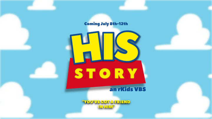 """Vacation Bible School 2019: """"His Story"""" logo image"""