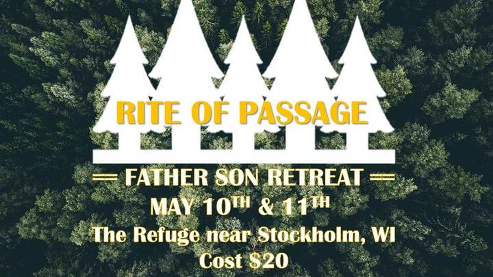 RITE OF PASSAGE // Father Son Retreat logo image