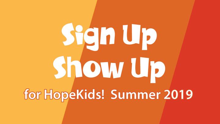 Sign Up and Show Up Sunday logo image