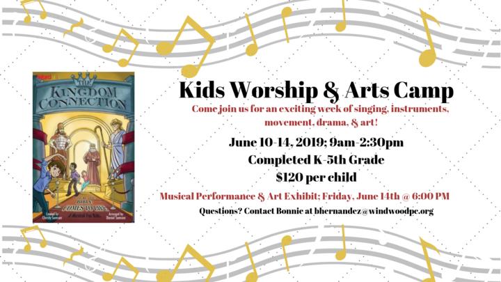 Kids Worship & Arts  |  Summer Music Camp logo image