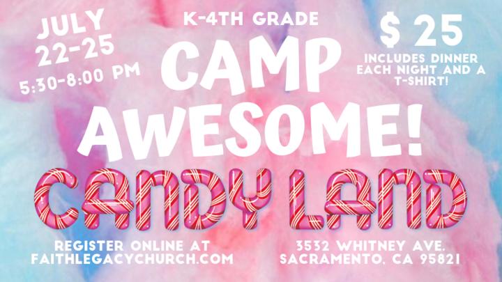 CAMP AWESOME! Candyland logo image
