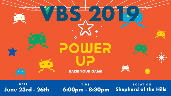 Power Up - Raise Your Game (VBS 2019) logo image