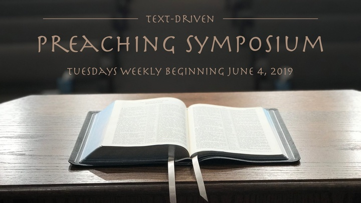 Text-Driven Preaching Symposium logo image