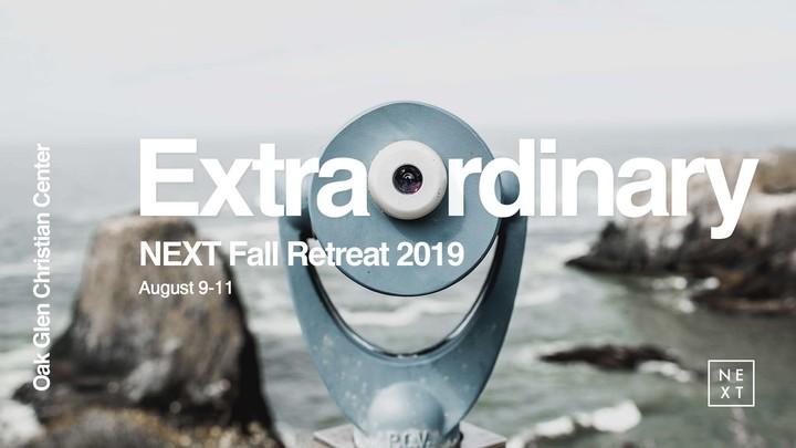 NEXT Fall Retreat 2019 logo image