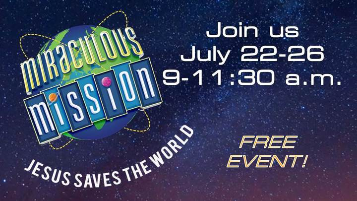 Miraculous Mission Vacation Bible School logo image