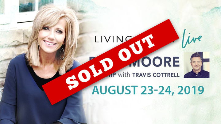 Living Proof Live - Beth Moore, Worship with Travis Cottrell logo image