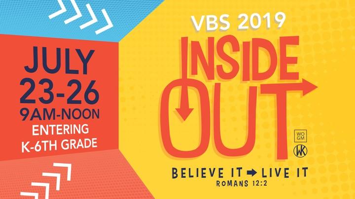 VBS Inside Out: Believe It. Live It.  logo image