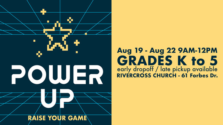 RiverCross Camp 4 - POWER UP! : Aug 19-Aug 22, 9am-12pm (grades K-5) logo image