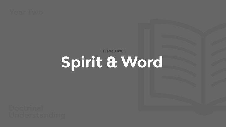 Term 1 - Spirit & Word logo image