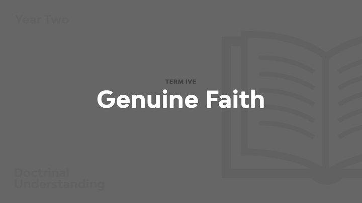 Term 5 - Genuine Faith logo image