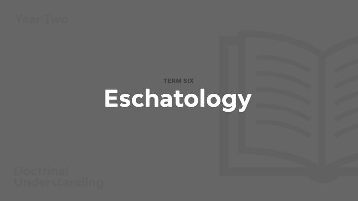 Term 6 - Eschatology logo image