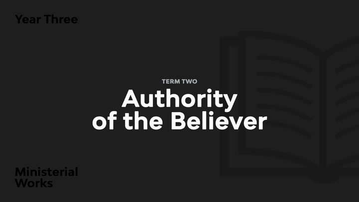 Term 2 - Authority of the Believer logo image