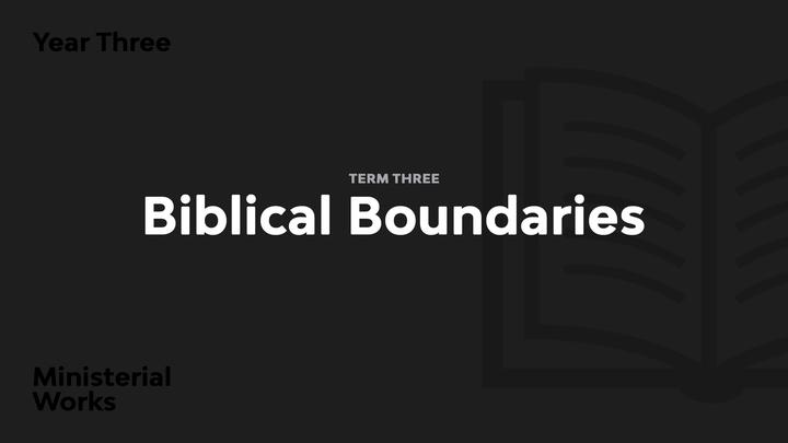 Term 3 - Biblical Boundaries logo image