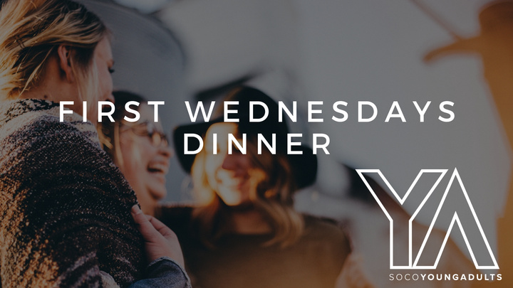 Young Adults First Wednesday Dinner logo image