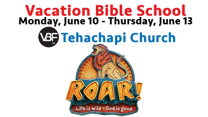 Tehachapi VBF Vacation Bible School - ROAR! logo image