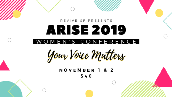 Arise 2019: Powerful and Free Woman's Conference logo image